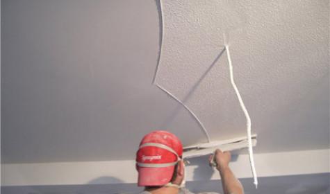 Осуществляем ремонт потолка. Штукатурка