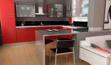 Из чего изготавливается кухонная мебель хай тек